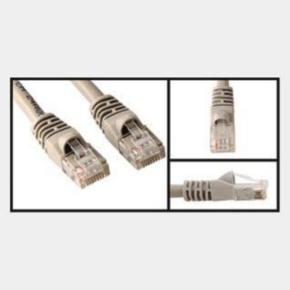 10' Network/LAN Patch Cord, Cat 5e, RJ45/RJ45, Gray