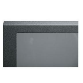 "Panel, 18.37""x20.04"", 10U, Steel, Black Textured Powder Coat"