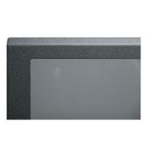"Panel, 21.87""x20.40"", 12U, Steel, Black Textured Powder Coat"