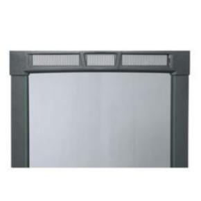 "Panel, 35.98""x22"", 19U, Steel, Black Textured Powder Coat"
