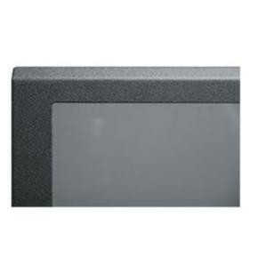 "Panel, 37.62""x20.40"", 21U, Steel, Black Textured Powder Coat"