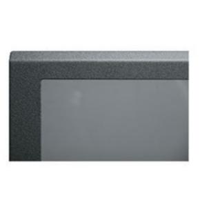 "Panel, 42.87""x20.40"", 24U, Steel, Black Textured Powder Coat"