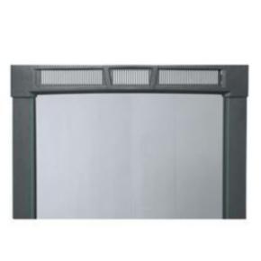 """Panel, 81.48""""x22"""", 45U, Steel, Black"""