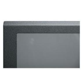 "Panel, 81.37""x20.40"", 46U, Steel, Black Textured Powder Coat"