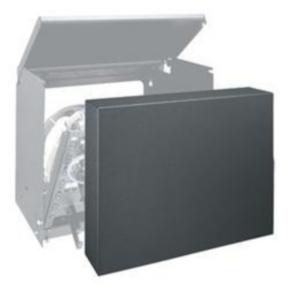 """Panel, 13.50""""x20.96"""", 6U, Steel, Black"""