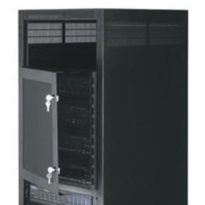 "Panel, 28""x19"", 16U, Plexi-Glass, Black Powder Coat"