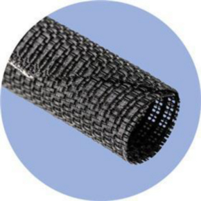 """Expandable Sleeve, Expands: 0.75"""", Size 0.25"""", Polyester, Black"""