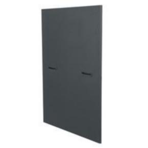 """Panel, 17.50""""x26.75"""", 8U, Steel, Black"""