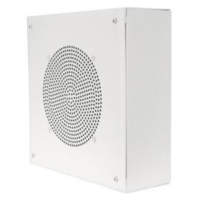 """8"""" O.D. speaker, Wall Mount, Square, WHITE, 5W-25/70V transformer"""