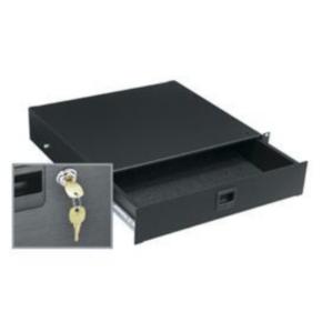 "Rack Drawer, 3.50""x19"", 50 LBS, 2U, Steel"
