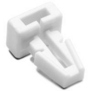 """Push Mount, 0.13"""" Panel Thickness Max, 0.18"""" Height, 0.62"""" Length, 0.40"""" Width, White"""