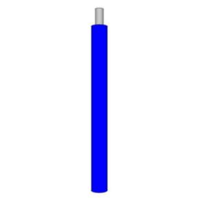 14 AWG, UL 1015 Lead Wire, 1 Strand, 105C, 600V, PVC, Blue