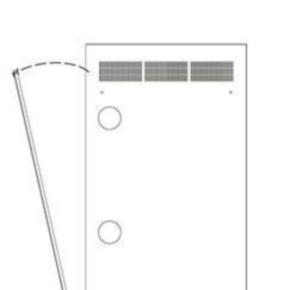 "Panel, 44.50""x21.44"", 24U, Steel, Black Powder Coat"