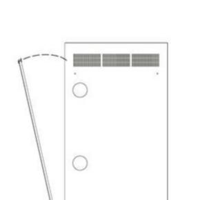 "Panel, 79.50""x21.44"", 44U, Steel, Black Powder Coat"