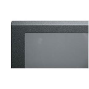"""Panel, 82.17""""x21.71"""", 44U, Steel, Black"""